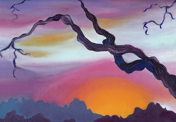 Original Painting - Arizona Sunset by Suzanne  Marie Leclair