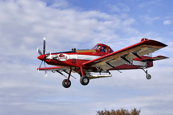 Crop Photograph   Arkansas Razorbacks Crop Duster By Jason Politte