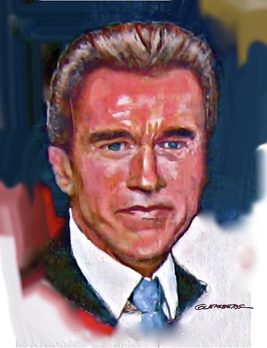 Governor Arnold Schwarzenegger Painting - Arnold Schwarzenegger by Craig A Christiansen