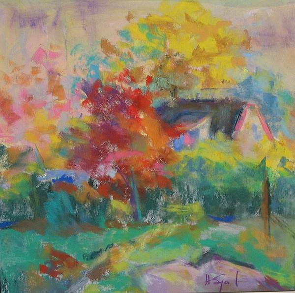 Landscape Painting - Around My Corner by Harvey Segal