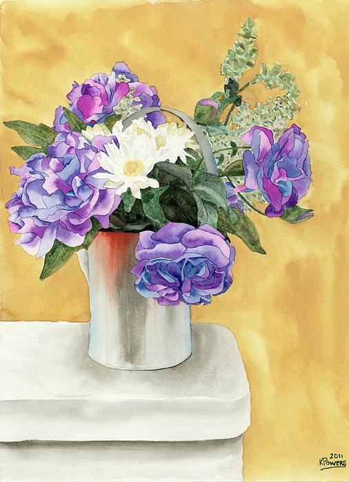 Floral Painting - Arrangement by Ken Powers