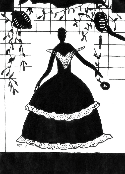 Silhouette Drawing - Arriving At The Ball by Patricia Montgomery