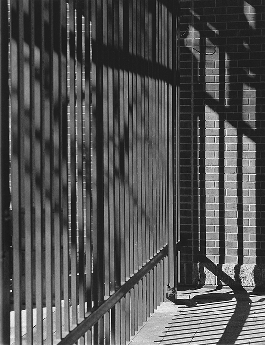 Light And Shadow Photograph - Art And Design Center Security Gate by Jim Furrer