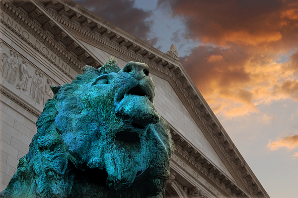 Chicago Photograph - Art And Lions by Anthony Citro
