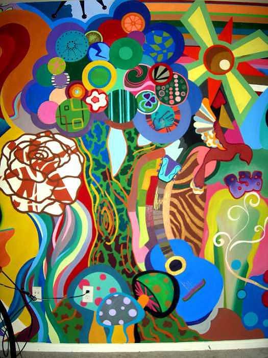 Trippy Painting - Art Deco On Acid Art Mural by Kaley LaRose