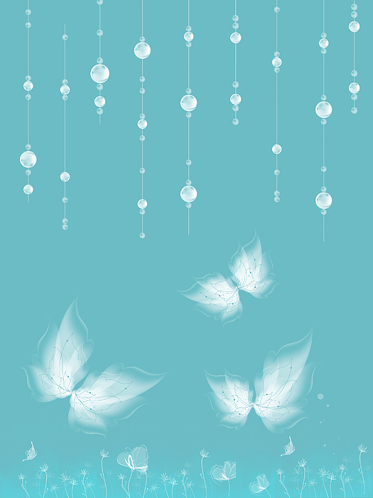 Butterfly Digital Art - Art En Blanc - S11a by Variance Collections