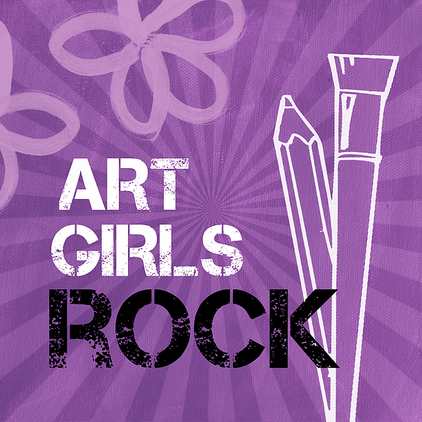 Flowers Mixed Media - Art Girls Rock by Linda Woods