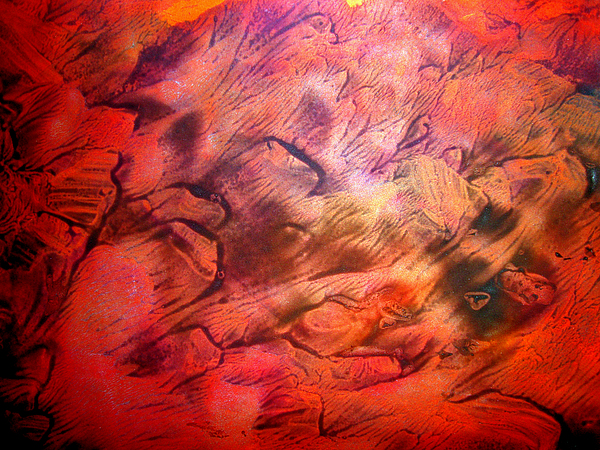 Red Painting - Art Leigh Odom 0007 by Leigh Odom