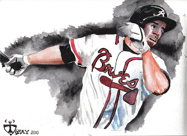 Watercolor Painting - Art Of The Braves by Torben Gray