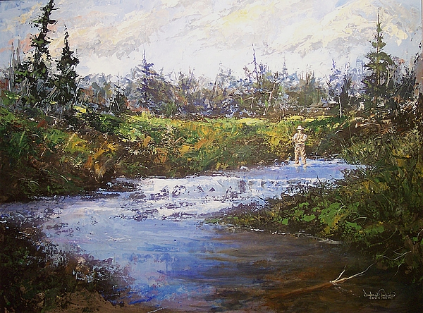 Fly Fishing Painting - Art Of The Fly by Douglas Trowbridge