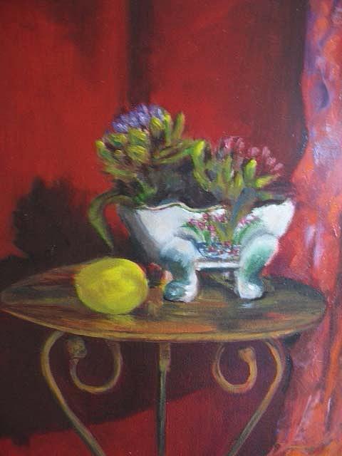 Oil Painting - Artichokes by Rosie De Jager