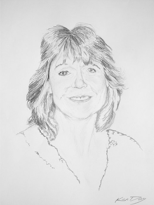 Artist Kelly Goswick Drawing by Ken Day