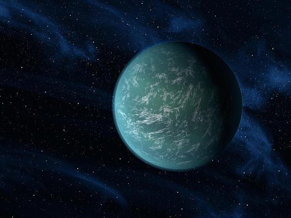 Concept Digital Art - Artists Concept Of Kepler 22b, An by Stocktrek Images