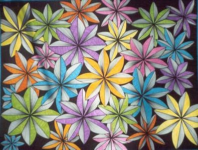 Abstract Flowers Drawing - Artpit 11 by Joyce Blair