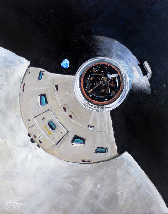 Apollo 8 Painting - As-503 Apollo 8 by Simon Kregar