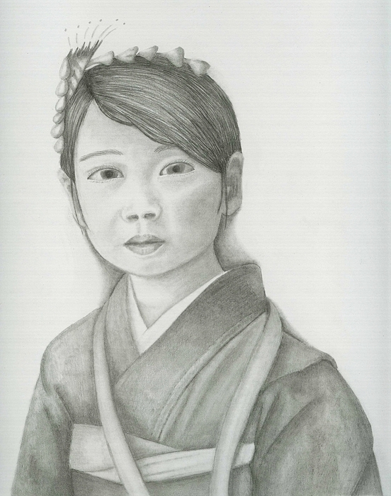 Realism Drawing - Asian Girl by Danielle Reeder