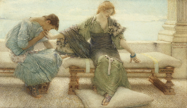 Ask Painting - Ask Me No More....for At A Touch I Yield by Sir Lawrence Alma-Tadema