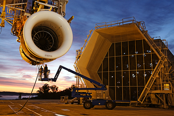 Outdoors Photograph - Assembling An Energy Efficient Jet by Tyrone Turner