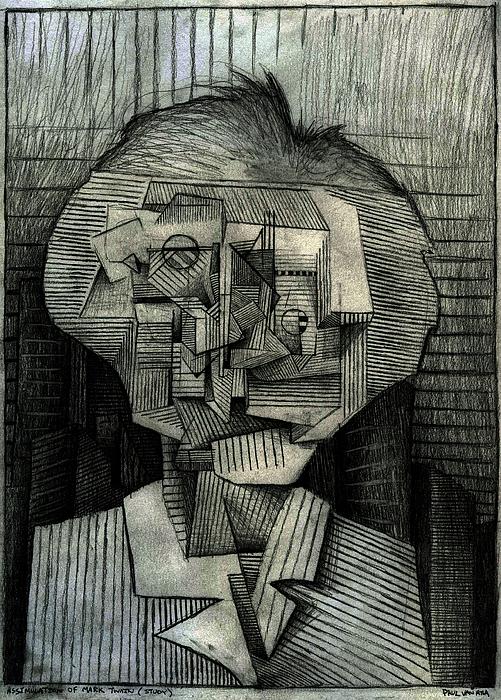 Mark Drawing - Assimulation Of Twain by Paul  Van Atta