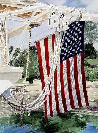 Flag Painting - Astern Mary Day by Norton Linda