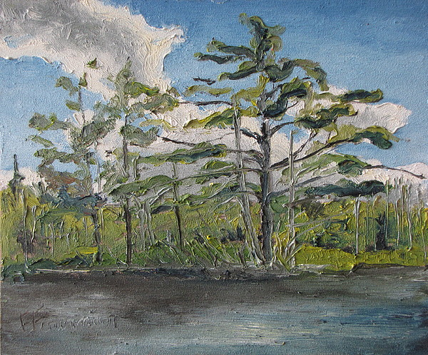 Landscape Painting - At Islands Lake No1 by Francois Fournier