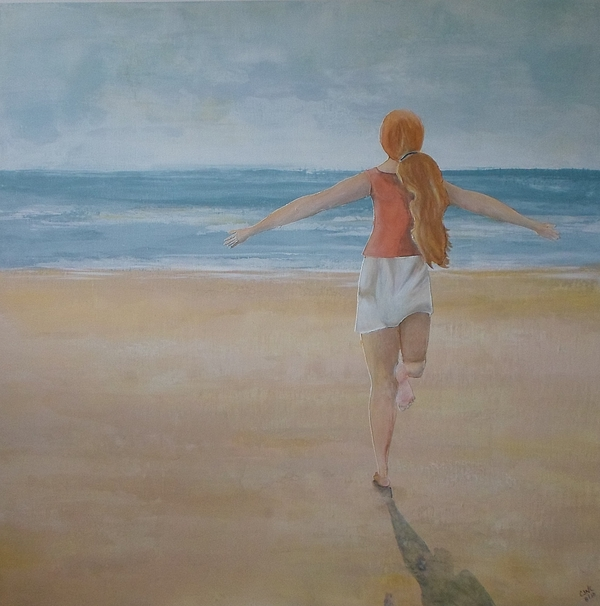 Ocean Painting - At Last by Catherine JN Christopher