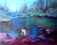 At Peace With Nature Painting by Geri Acosta