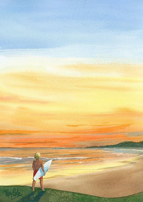 At Sunset Painting by Ray Cole
