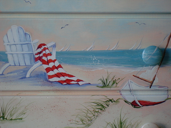 At The Beach Painting by Catherine Amendola
