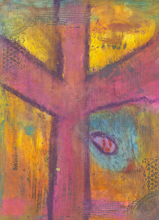 Cross Mixed Media - At The Cross by Angela L Walker