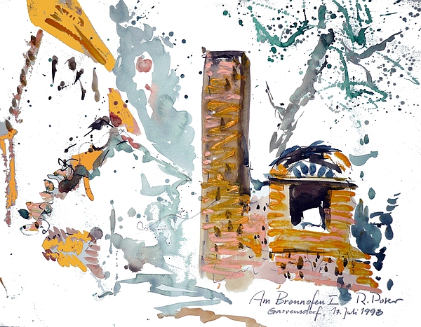 Chimney Painting - At The Furnace by Reiner Poser