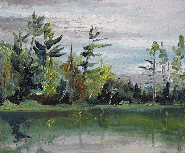 Landscape Painting - At The Lake by Francois Fournier
