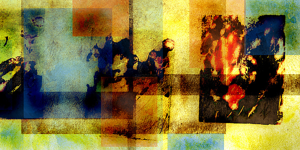 Abstract Digital Art - At The Races by Geoff Ault