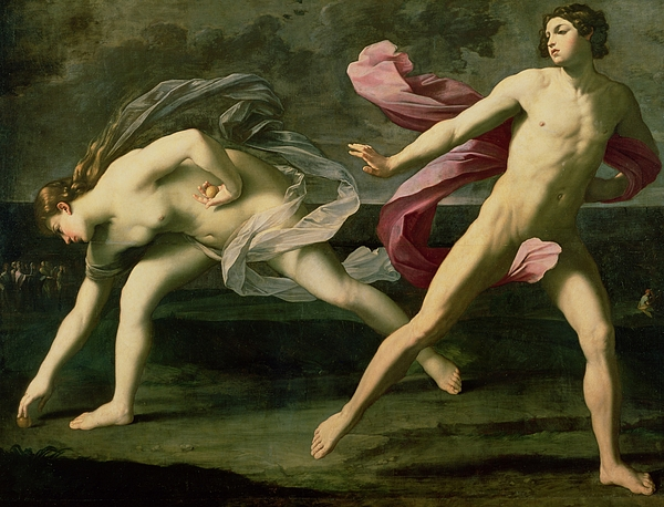 Nude Painting - Atalanta And Hippomenes by Guido Reni