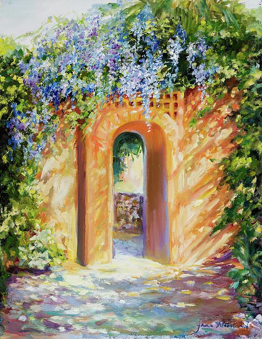 Atalaya Painting - Atalaya With Wisteria by Jane Woodward