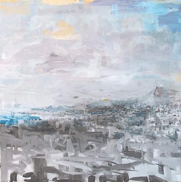 Abstract Painting - Athens Is Waking Up 01  by Jelena Ignjatovic