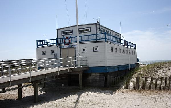 Landscape Photograph - Atlantic City Beach Patrol by Mary Haber