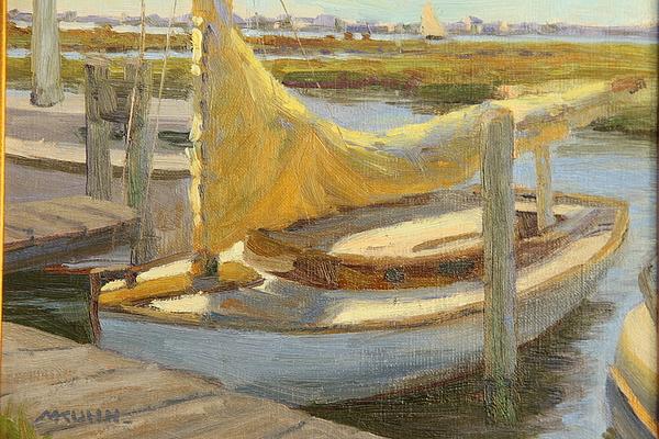 Plein Air Painting - Atlantic City Cat Boat by Marianne Kuhn
