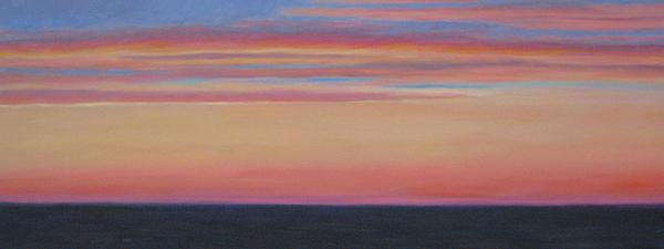 Sunset Painting - Atlantic Sunset by Jane  Simonson