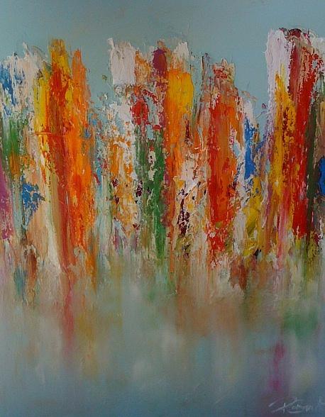 Au Bord De Leau Painting by Patrice Brunet