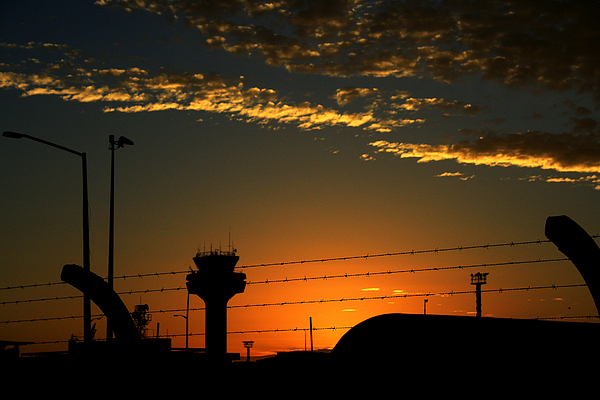 Auckland Photograph - Auckland Airport Sunrise by Chris Hung