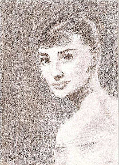 Audrey Drawing by Nanditha Nayak