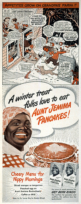 Domestic Photograph - Aunt Jemima Ad, 1948 by Granger