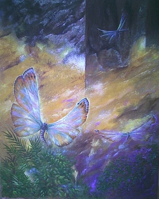 Aura Painting - Aura        Are You Coming by Sue Lewis