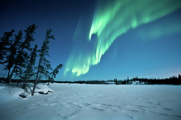 Horizontal Photograph - Aurora Borealis by Michael Ericsson