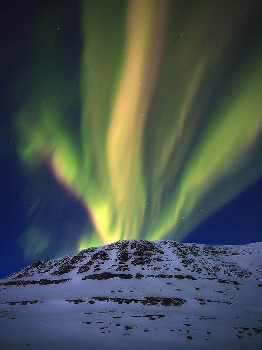 Aurora Borealis Photograph - Aurora Borealis Over Toviktinden by Arild Heitmann