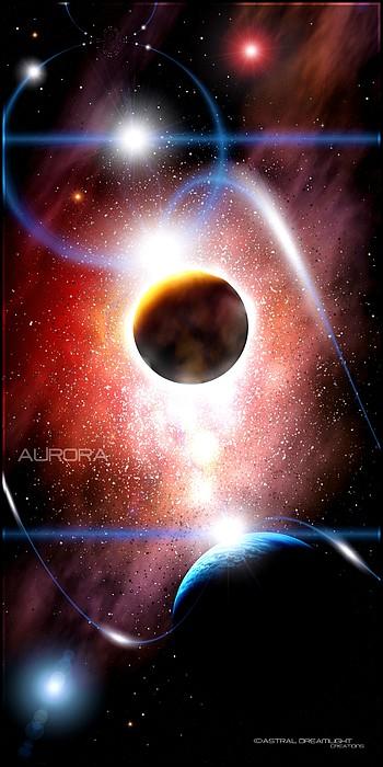Space Digital Art - Aurora by Dreamlight  Creations