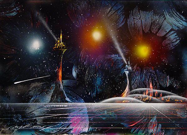 Space Painting - Auroras by Angel Ortiz