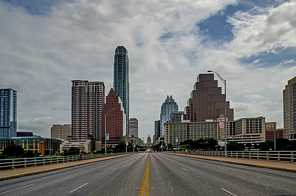 Austin Photograph - Austin From Congress Street Bridge by Allen Sheffield