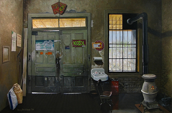 Antique Painting - Austin General Store Interior by Doug Strickland